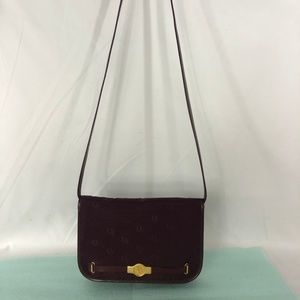 Exquisite Christian Dior Burgundy Handbag